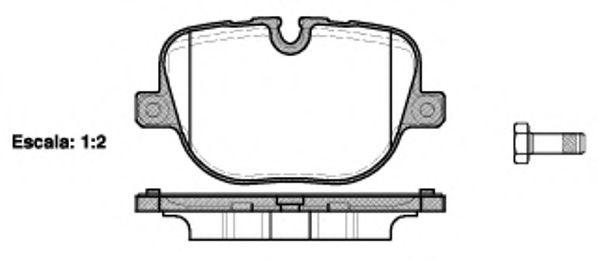 Комплект тормозных колодок, дисковый тормоз ROADHOUSE арт. 2140800