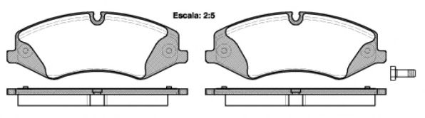 Комплект тормозных колодок, дисковый тормоз ROADHOUSE арт. 2140900