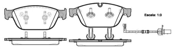 Комплект тормозных колодок, дисковый тормоз ROADHOUSE арт. 2144302