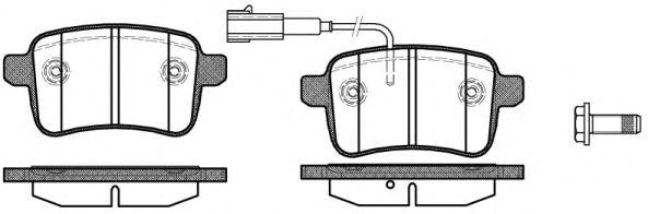Комплект тормозных колодок, дисковый тормоз ROADHOUSE арт. 2145002