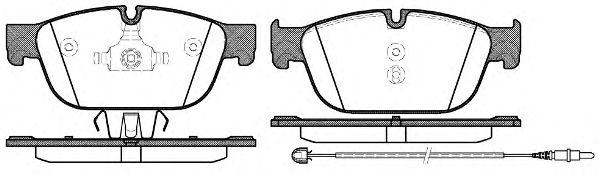 Комплект тормозных колодок, дисковый тормоз ROADHOUSE арт. 2145101