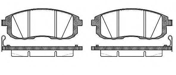 Комплект тормозных колодок, дисковый тормоз ROADHOUSE арт. 229314