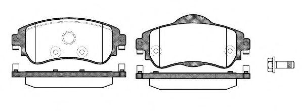 Комплект тормозных колодок, дисковый тормоз ROADHOUSE арт. 2146408