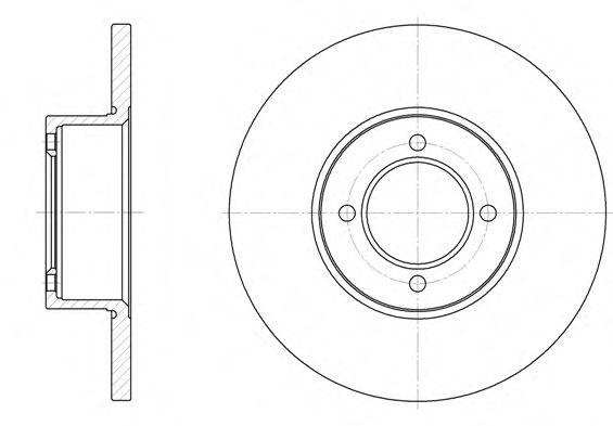 Тормозной диск ROADHOUSE арт. 612700