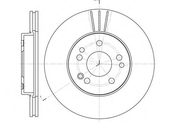 Тормозной диск ROADHOUSE арт. 631410