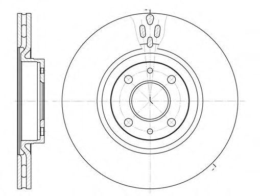 Тормозной диск ROADHOUSE арт. 631611