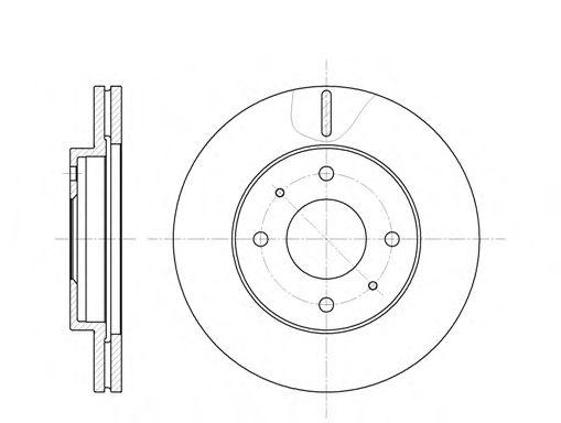 Тормозной диск ROADHOUSE арт. 639110