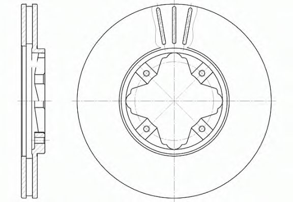 Тормозной диск ROADHOUSE арт. 648510