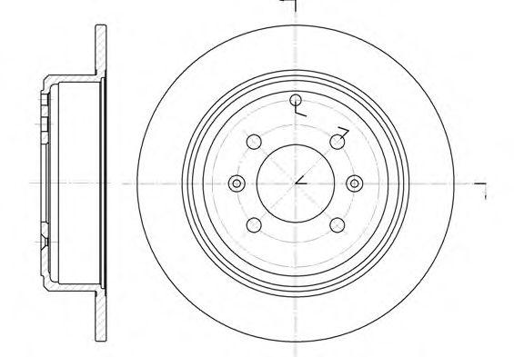 Тормозной диск ROADHOUSE арт. 649800