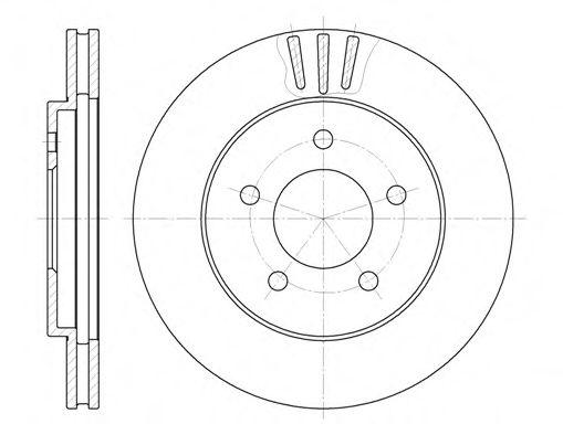 Тормозной диск ROADHOUSE арт. 656410