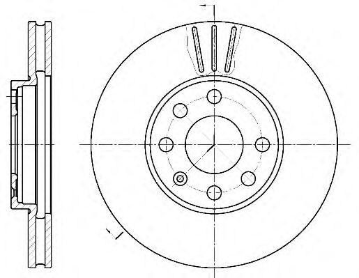 Тормозной диск ROADHOUSE арт. 657210