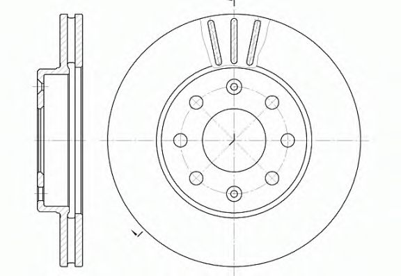 Тормозной диск ROADHOUSE арт. 665510