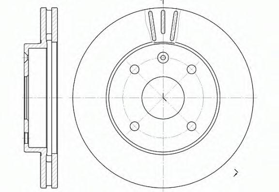 Тормозной диск ROADHOUSE арт. 665610