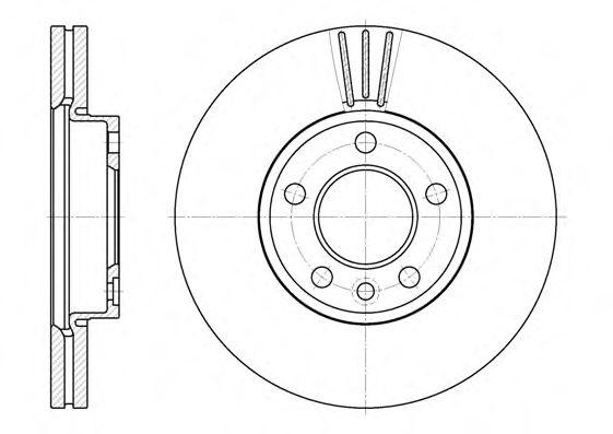 Тормозной диск ROADHOUSE арт. 670810