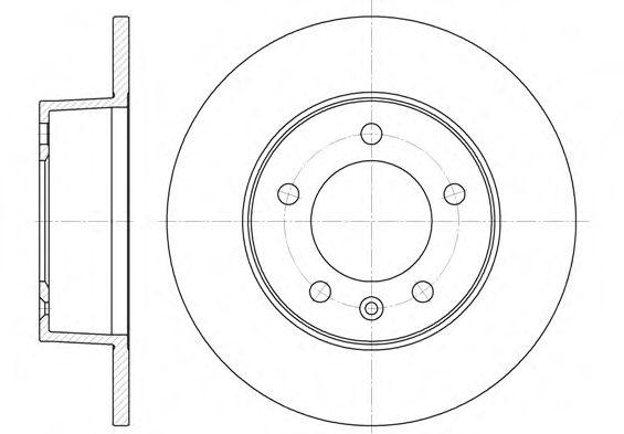 Тормозной диск ROADHOUSE арт. 673500