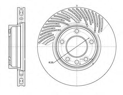 Тормозной диск ROADHOUSE арт. 677310