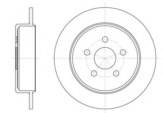 Тормозной диск ROADHOUSE арт. 690100