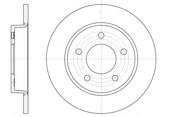 Тормозной диск ROADHOUSE арт. 690600