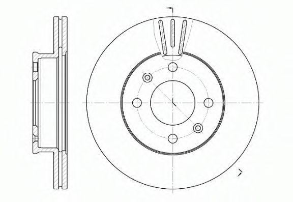 Тормозной диск ROADHOUSE арт. 695810