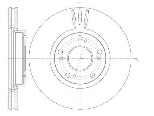 Тормозной диск ROADHOUSE арт. 698510