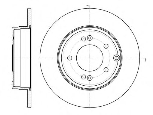 Тормозной диск ROADHOUSE арт. 698900