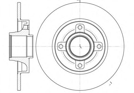 Тормозной диск ROADHOUSE арт. 6101400