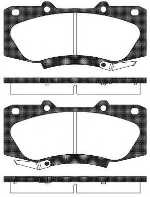 Комплект тормозных колодок, дисковый тормоз ROADHOUSE арт. 2146804