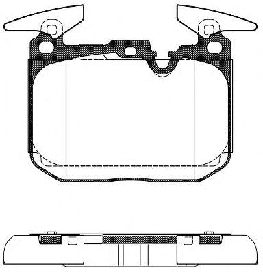 Комплект тормозных колодок, дисковый тормоз ROADHOUSE арт. 2149100