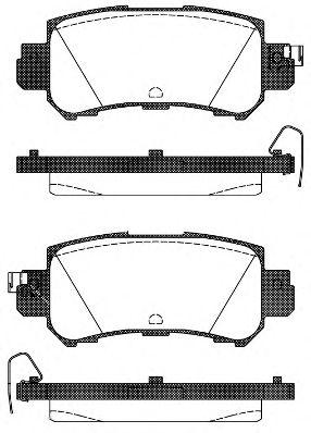 Комплект тормозных колодок, дисковый тормоз ROADHOUSE арт. 2150700