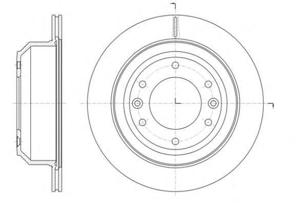 Тормозной диск ROADHOUSE арт. 6139710