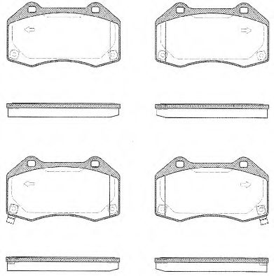 Комплект тормозных колодок, дисковый тормоз ROADHOUSE арт. 2111302