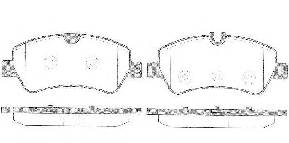 Комплект тормозных колодок, дисковый тормоз ROADHOUSE арт. 2152100