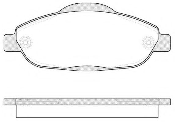 Комплект тормозных колодок, дисковый тормоз ROADHOUSE арт. 2132300