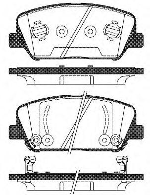 Комплект тормозных колодок, дисковый тормоз ROADHOUSE арт. 2139802