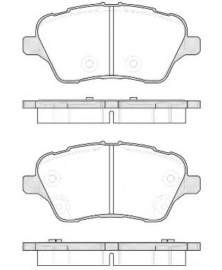 Комплект тормозных колодок, дисковый тормоз ROADHOUSE арт. 2151400