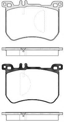 Комплект тормозных колодок, дисковый тормоз ROADHOUSE арт. 2153300