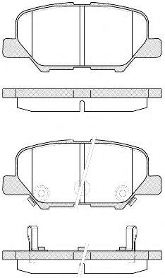 Комплект тормозных колодок, дисковый тормоз ROADHOUSE арт. 2153602
