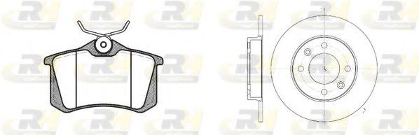 Комплект тормозов, дисковый тормозной механизм ROADHOUSE арт. 826303