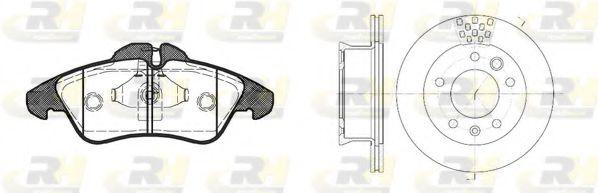Комплект тормозов, дисковый тормозной механизм ROADHOUSE арт.