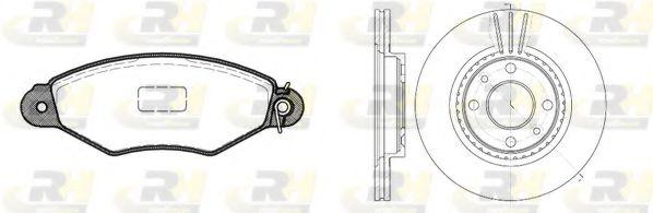 Комплект тормозов, дисковый тормозной механизм ROADHOUSE арт. 864305