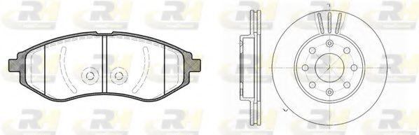 Комплект тормозов, дисковый тормозной механизм ROADHOUSE арт. 898600