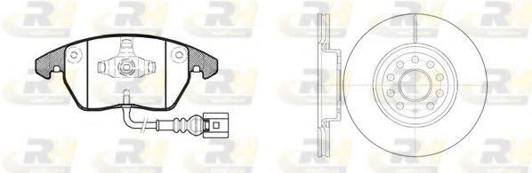 Комплект тормозов, дисковый тормозной механизм ROADHOUSE арт. 8103002