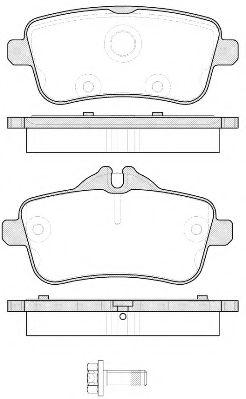 Комплект тормозных колодок, дисковый тормоз ROADHOUSE арт. 2150300