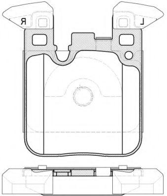 Комплект тормозных колодок, дисковый тормоз ROADHOUSE арт. 2153900
