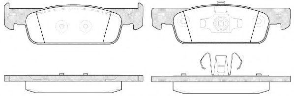 Комплект тормозных колодок, дисковый тормоз ROADHOUSE арт. 2154000