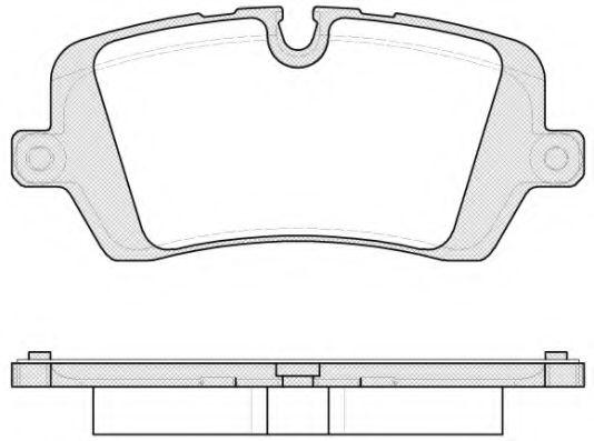 Комплект тормозных колодок, дисковый тормоз ROADHOUSE арт. 2154100