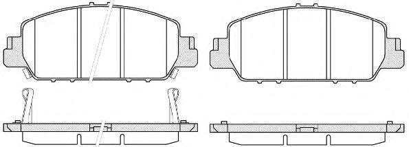 Комплект тормозных колодок, дисковый тормоз ROADHOUSE арт. 2154802