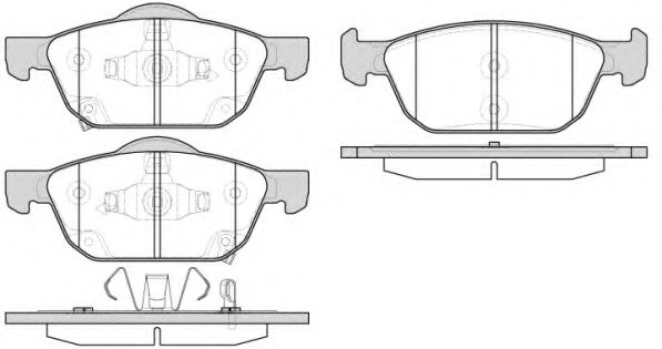 Комплект тормозных колодок, дисковый тормоз ROADHOUSE арт. 2155202