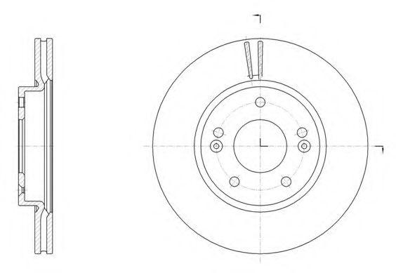Тормозной диск ROADHOUSE арт. 6150710