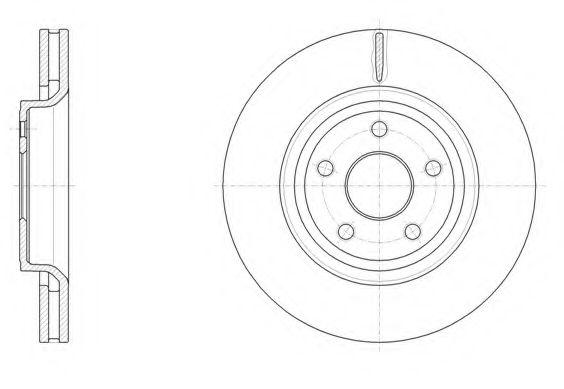 Тормозной диск ROADHOUSE арт. 6151210